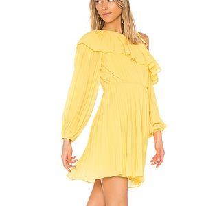 Endless Rose Dresses - Endless Rose pleated one shoulder lemon dress NWT